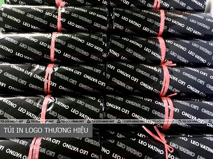 túi niêm phong đóng hàng màu đen in logo riêng