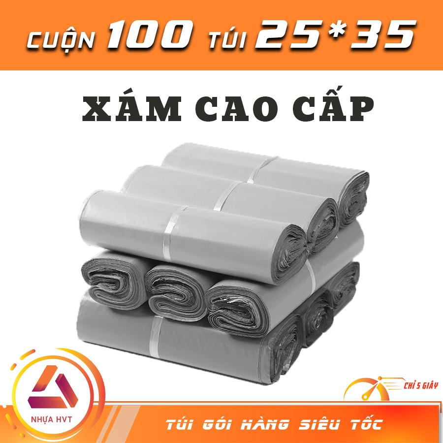 Túi gói hàng chuyên dụng - Xám Cao Cấp - size 25*35