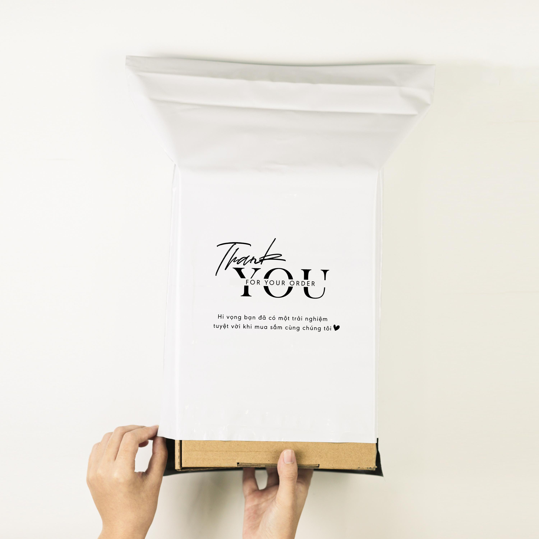 Túi gói hàng niêm phong - Trắng - Size 32*45