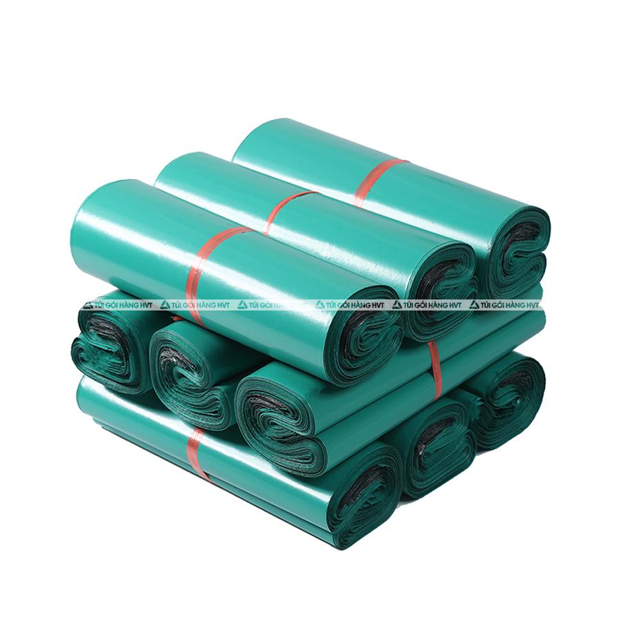 Túi gói hàng niêm phong  - Xanh - Size 35*45