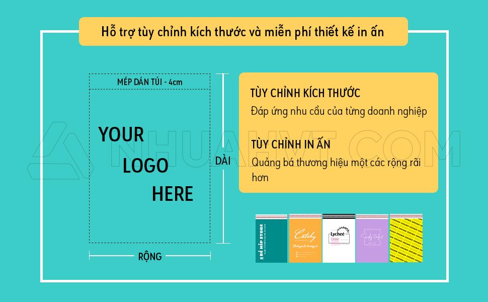 Túi gói hàng in logo thương hiệu theo yêu cầu