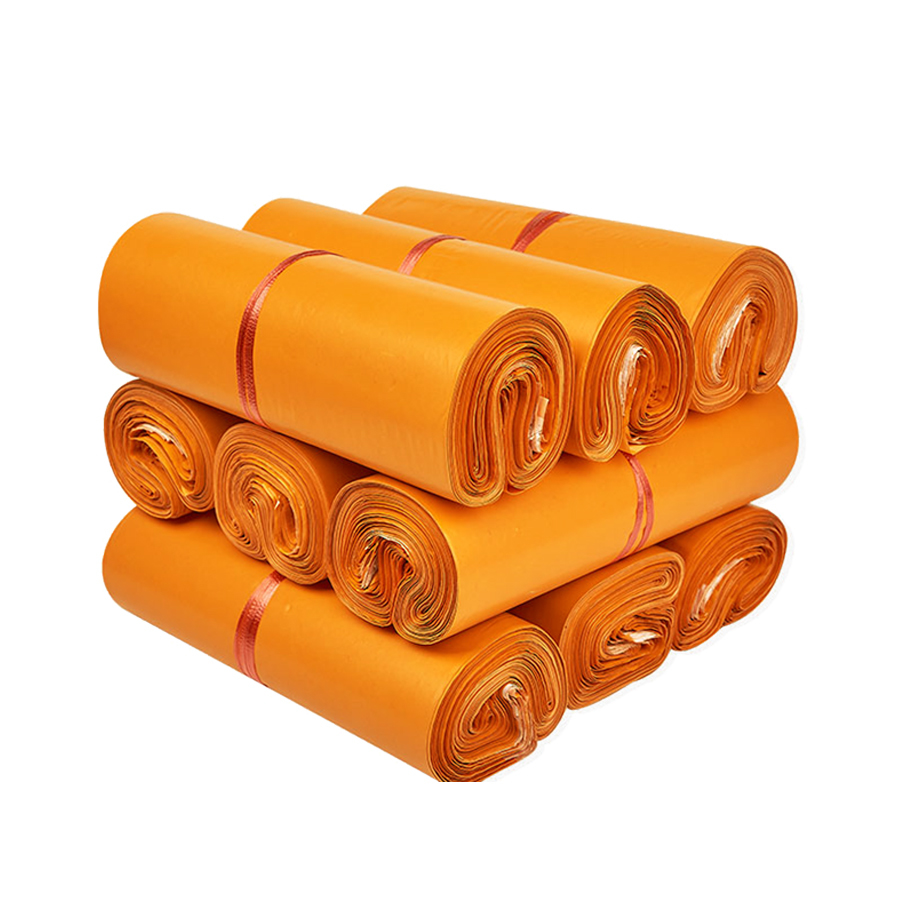 Túi gói hàng màu cam 20x30 cm 9 cuộn