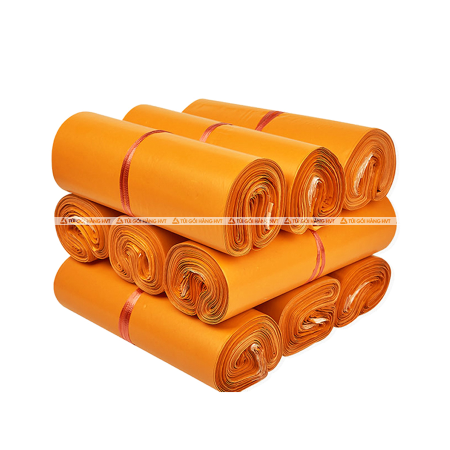 Túi gói hàng màu cam 28x42cm 9 cuộn