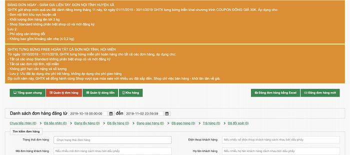 kiểm tra trạng thái đơn hàng và dòng tiền trên giao hàng tiết kiệm
