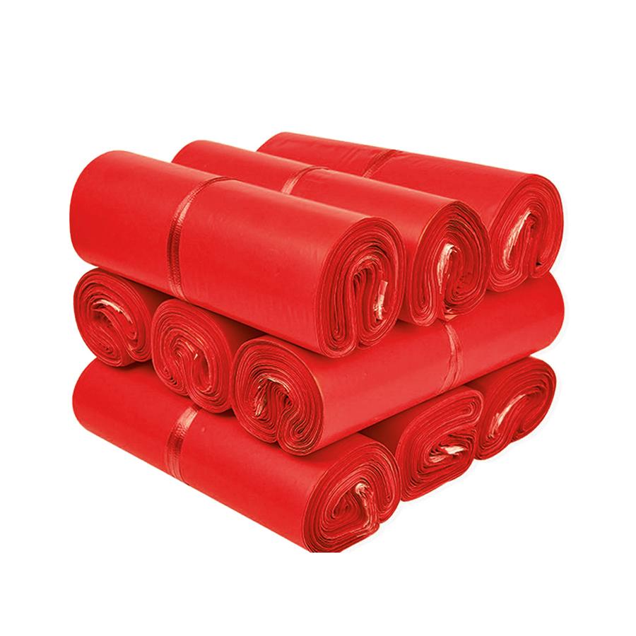 Túi gói hàng màu đỏ 28x42 cm 9 cuộn