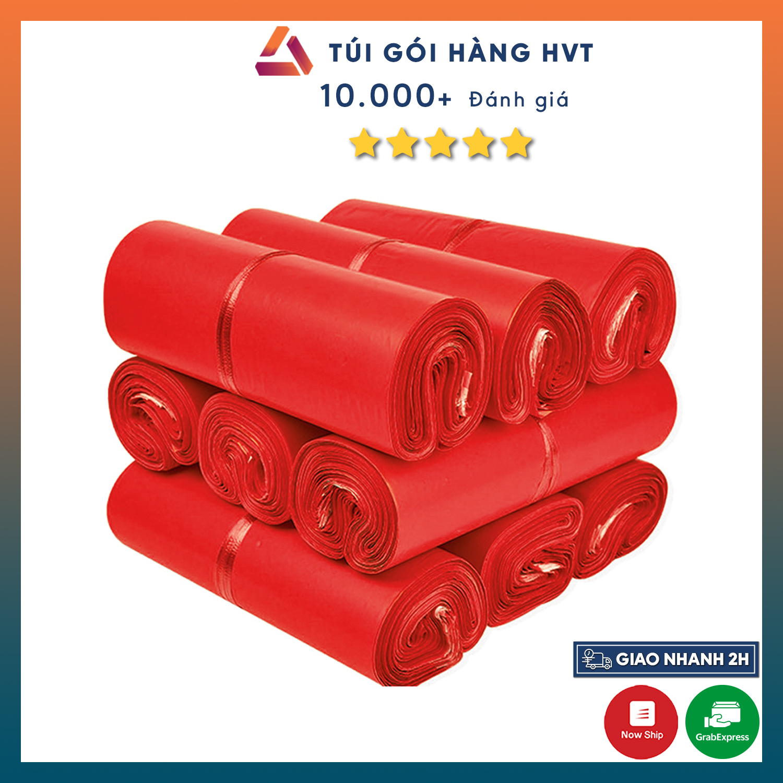 Túi đóng hàng tự dính màu đỏ