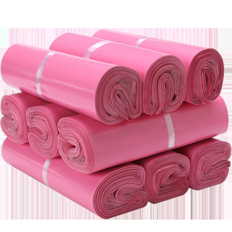 Túi gói hàng màu hồng 38x52 cm 9 cuộn