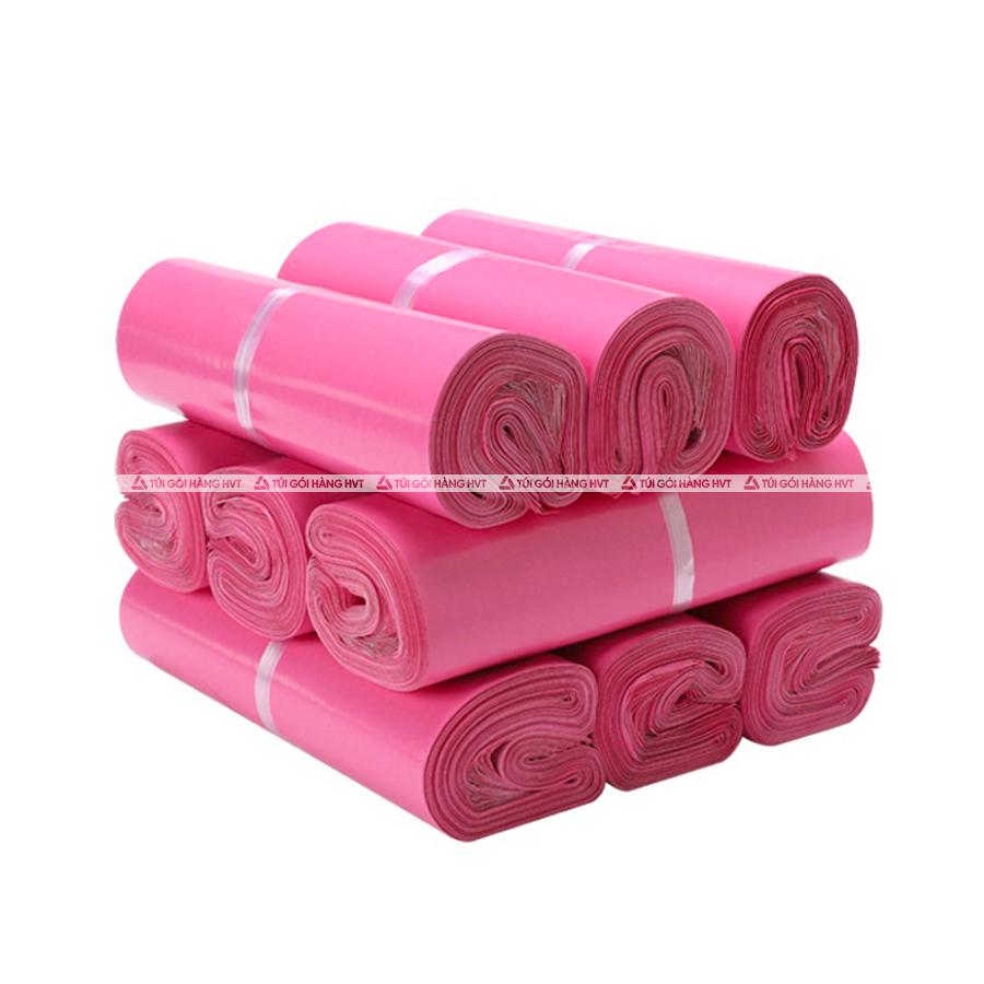 Túi gói hàng màu hồng 35x45 cm 9 cuộn