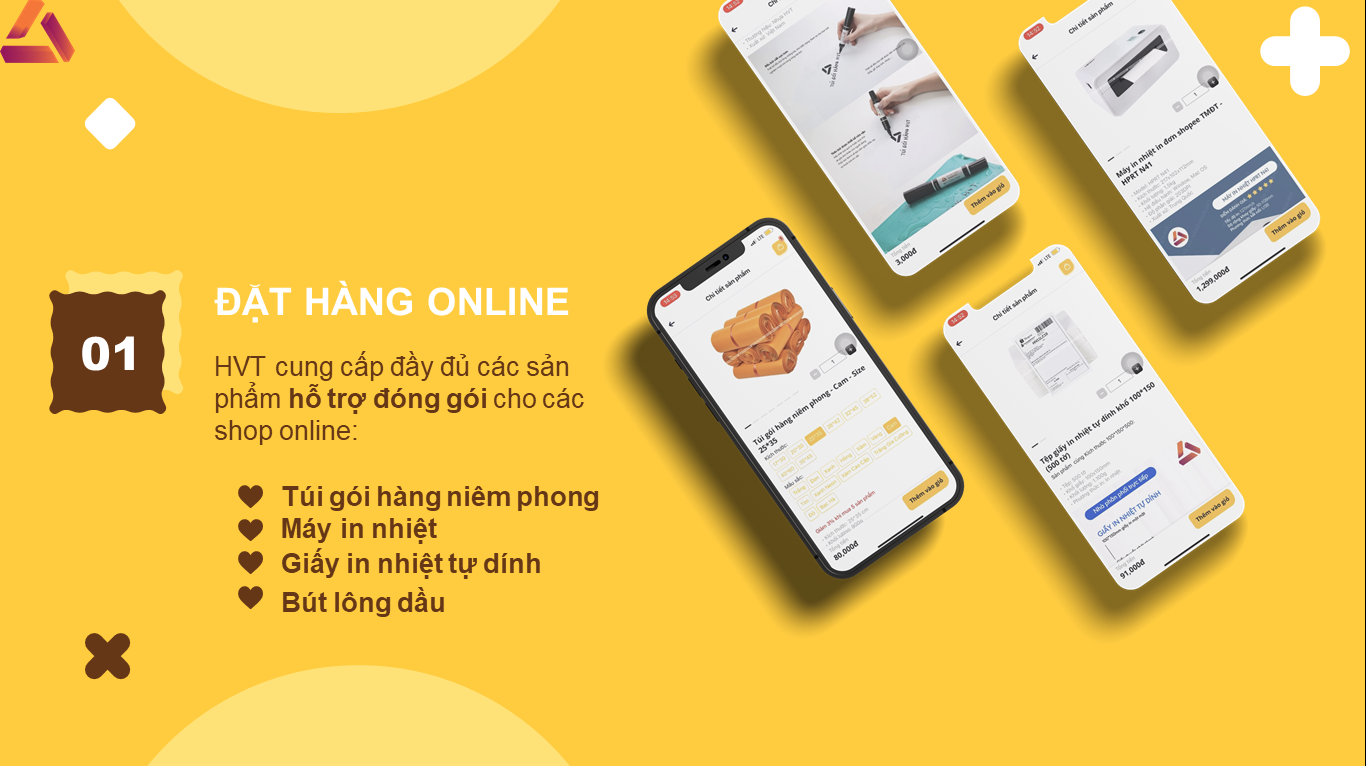 ứng dụng mua túi gói hàng online