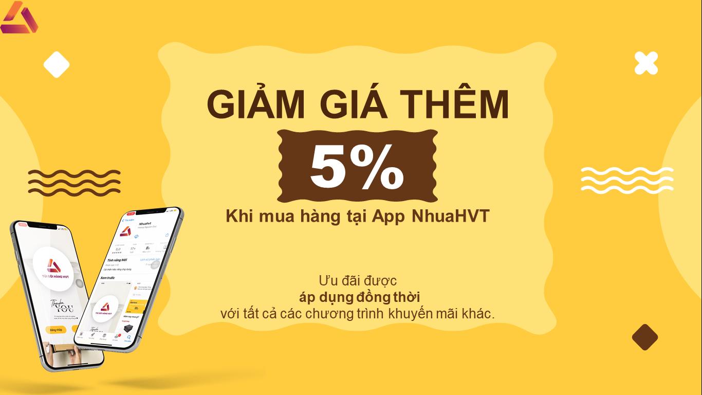 Ưu đãi khi mua hàng tại App nhuahvt