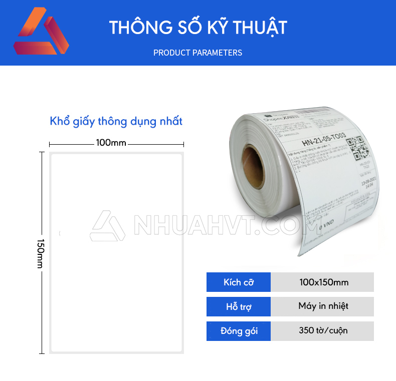 Giấy in nhiệt 100x150
