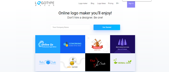 logotype maker thiết kế logo bằng vector