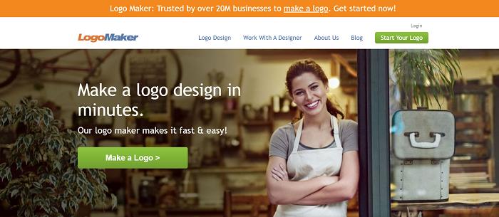 logo maker cho phép tải thiết kế riêng