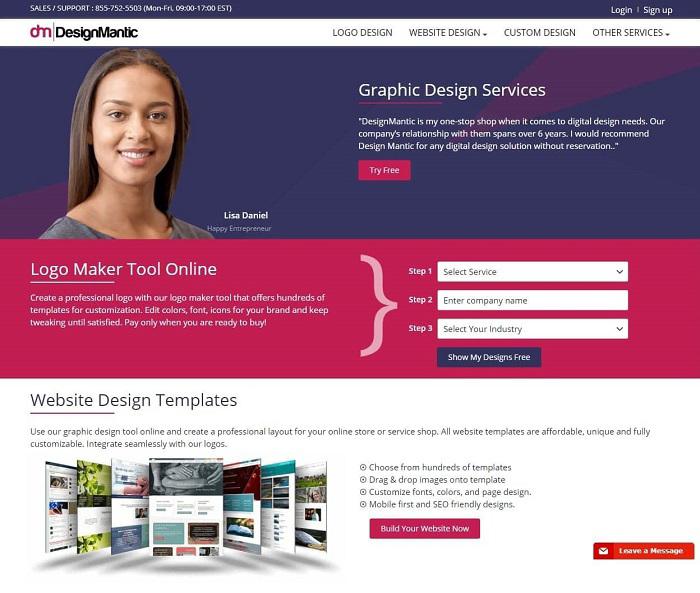 Bạn có thể lựa chọn Designmantic để tự tạo logo của mình