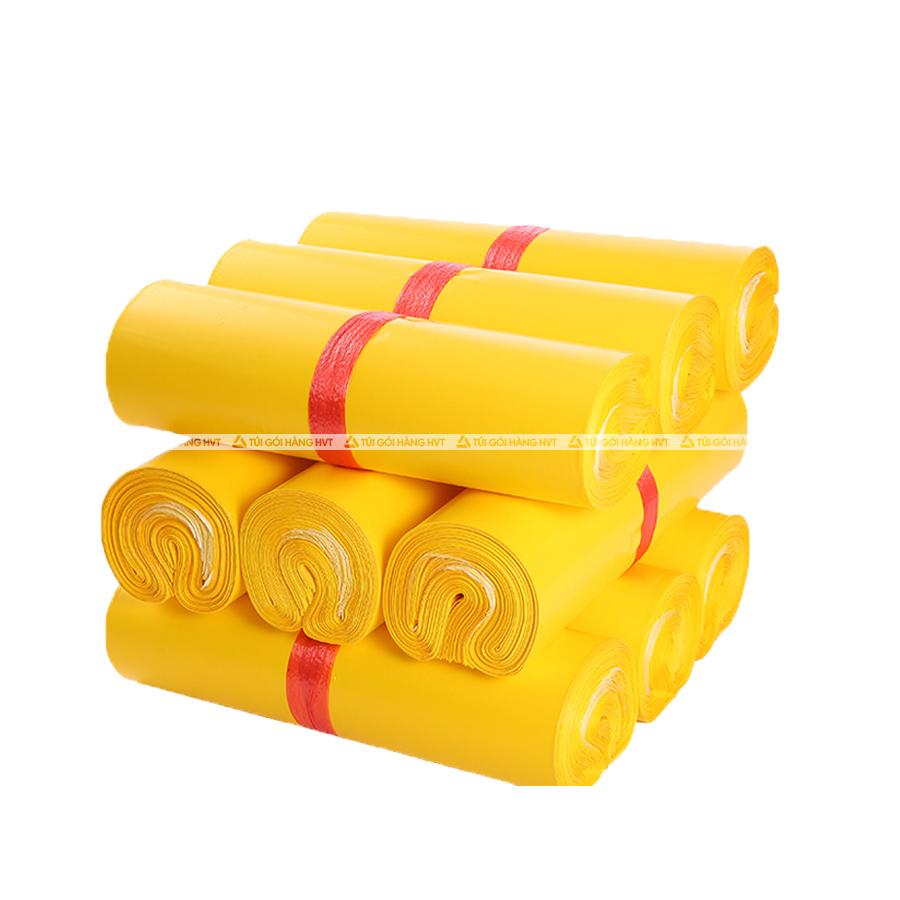 Túi gói hàng màu vàng 25x35 cm 9 cuộn