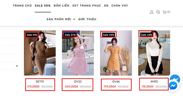 váy đắt đứng cạnh váy rẻ