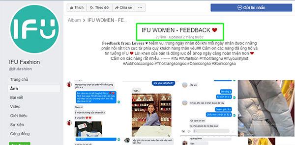 tin nhắn feedback của khách