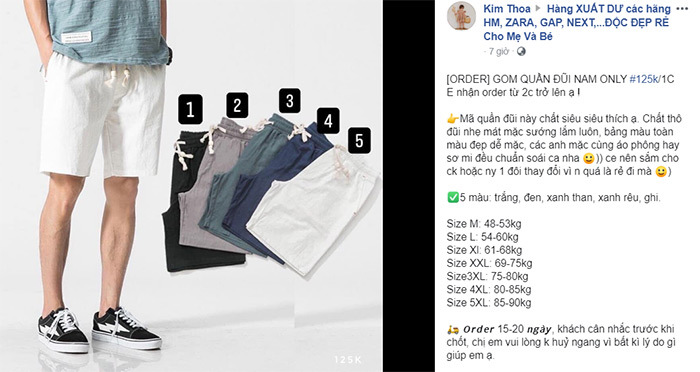 Hình thức bán hàng order