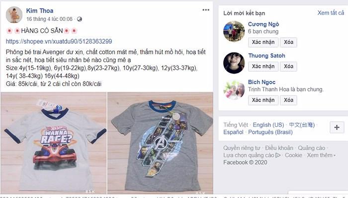 bán quần áo online cần chuẩn bị lấy quần áo có sẵn