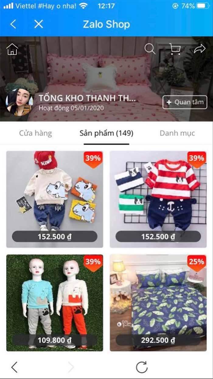 cách bán quần áo trẻ em online hiệu quả trên zalo