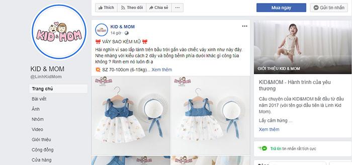 cách bán quần áo trẻ trên fanpage