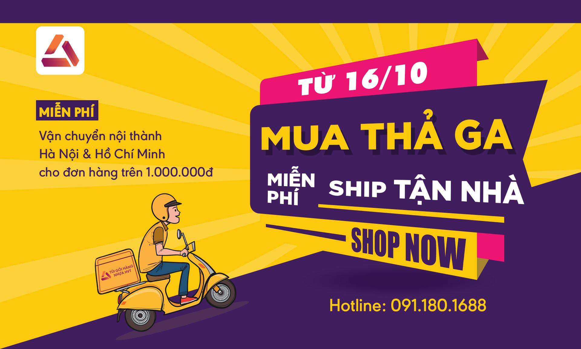 Túi gói hàng nhựa HVT free ship tận nhà