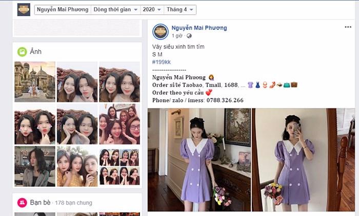 cách bán quần áo online trên trang cá nhân