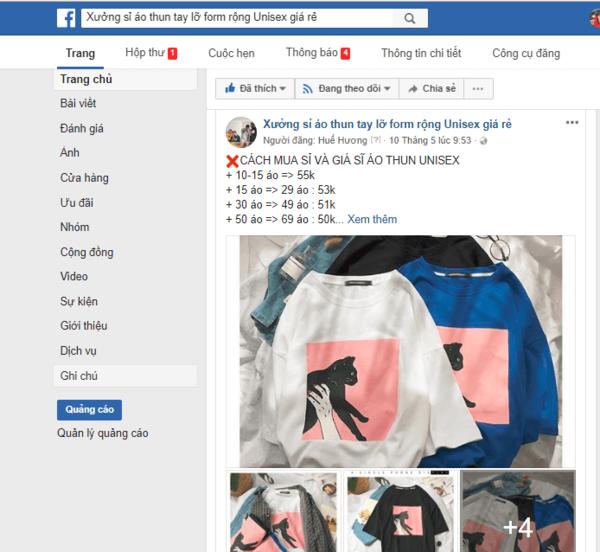 Cách bán sỉ quần áo online trên group facebook