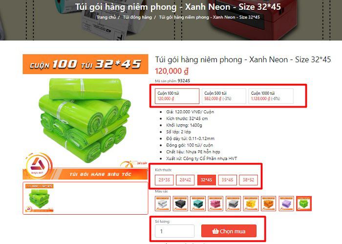 Chọn mua túi niêm phong Hà Nội