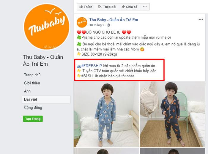 cách bán hàng quần áo trẻ em online hiệu quả bằng chính sách freeship