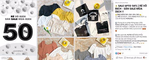 post bán quần áo khuyến mãi
