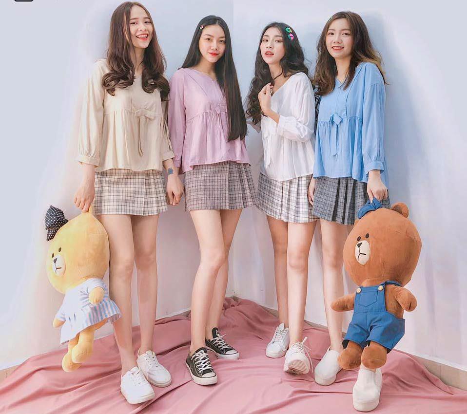 mẫu quần áo sinh viên
