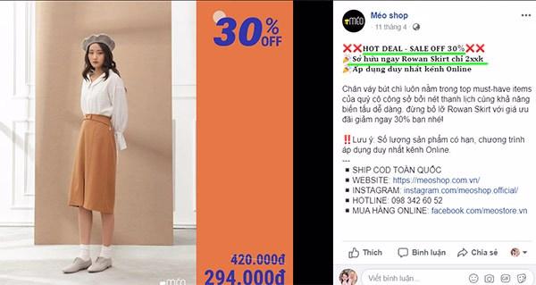 bài giới thiệu bán quần áo online