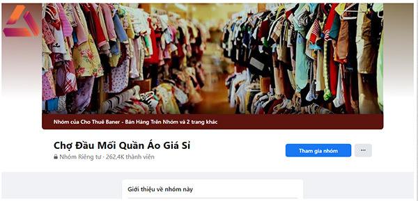 cách tham gia group bán quần áo