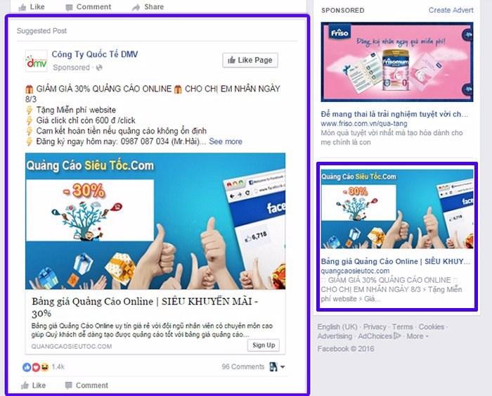 Quảng cáo facebook bán quần áo nữ
