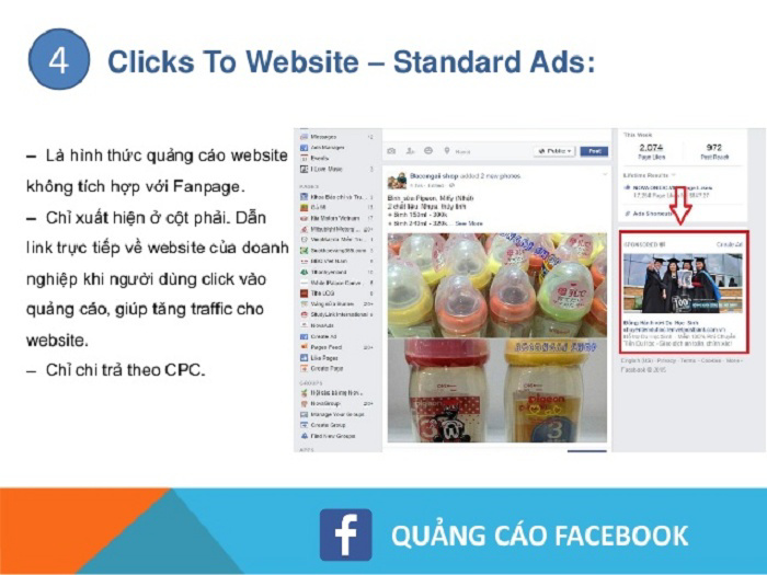 Clicks To Website – Multi products (trường hợp có website)