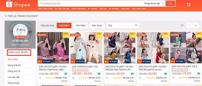 bán quần áo trên shopee