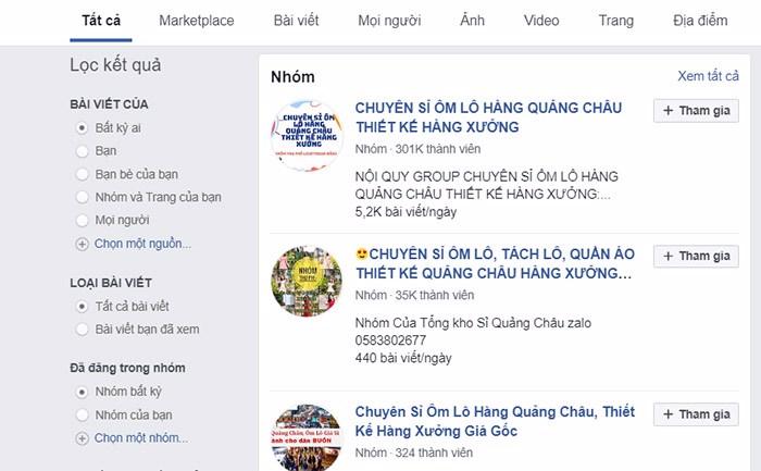 bán hàng qua group facebook