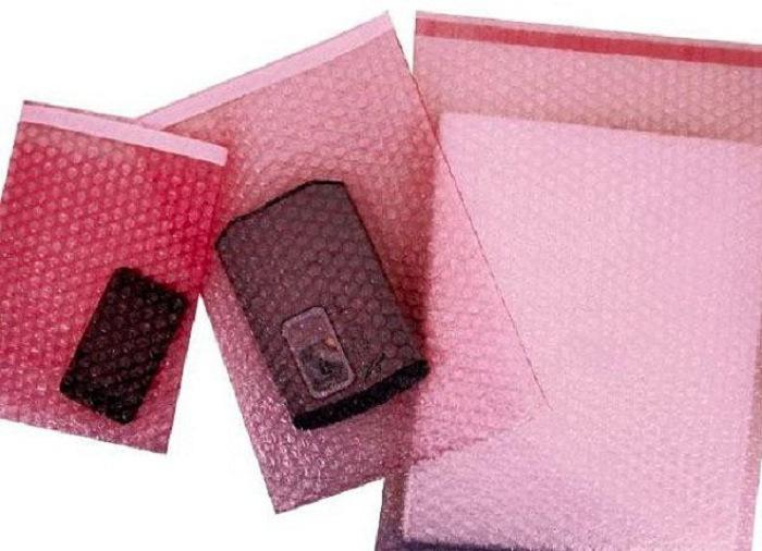 Túi bóng khí màu hồng
