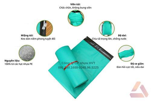 Túi gói hàng màu xanh dẻo dai