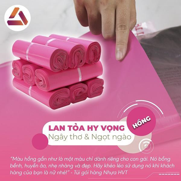 Túi gói hàng hồng