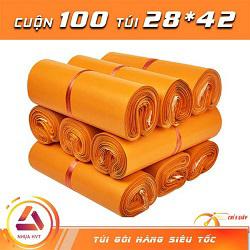 Túi gói hàng màu cam 28x42 cm 9 cuộn