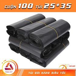 Túi gói hàng màu đen 25x35 cm 9 cuộn