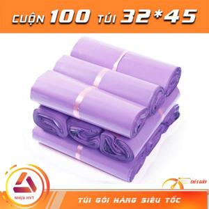 Túi gói hàng màu tím 32x45 cm 9 cuộn
