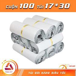 Túi gói hàng màu trắng 17*30 cm 9 cuộn