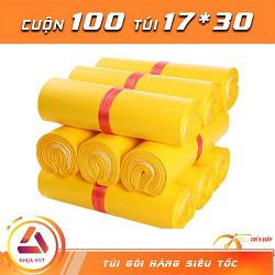 Túi gói hàng vàng 17x30cm 9 cuộn