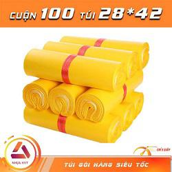 Túi gói hàng màu vàng 28x42 cm