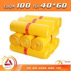 Túi gói hàng màu vàng 40x60 cm  9 cuộn
