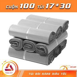 Túi gói hàng màu xám 17x30 cm 9 cuộn
