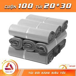Túi gói hàng xám 20x30cm có 9 cuộn